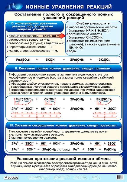 ionny`e uravneniia reaktcii`